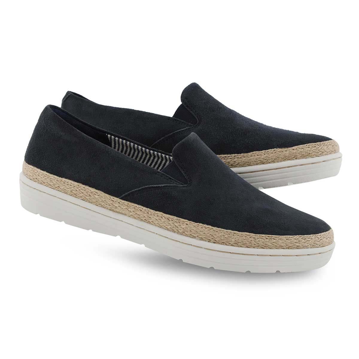 Lds Marie Pearl navy casual shoe