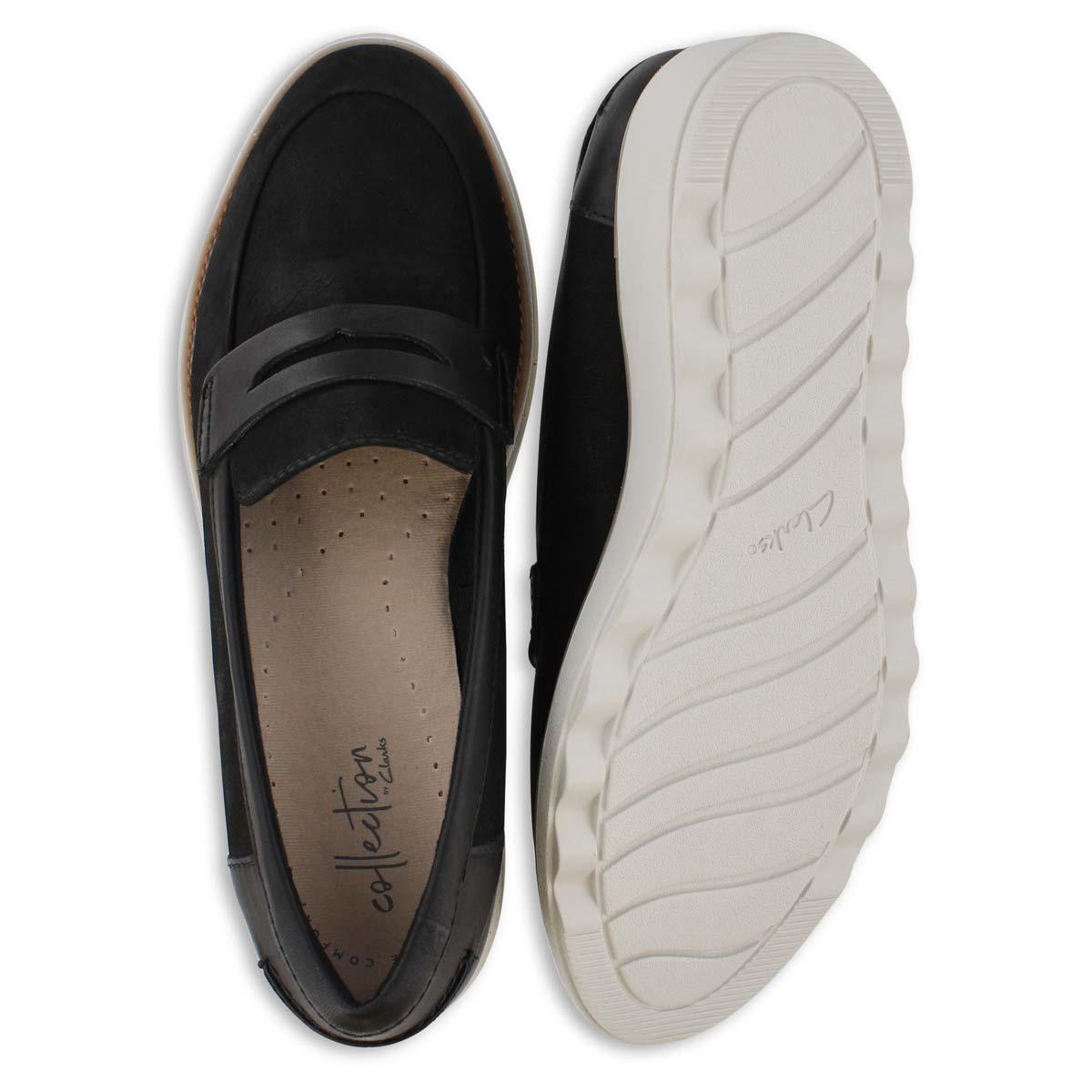 Lds Sharon Ranch black wedge loafer