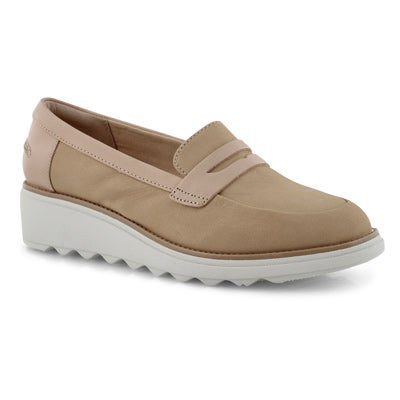 Lds Sharon Ranch nude wedge loafer