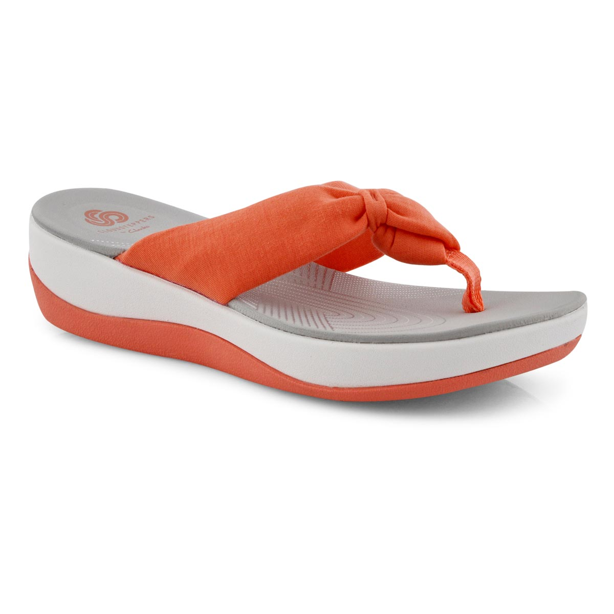 Lds Arla Glison coral thong wedge sandal