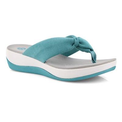 Lds Arla Glison aqua thong wedge sandal