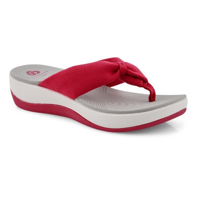 Lds Arla Glison rose thong wedge sandal