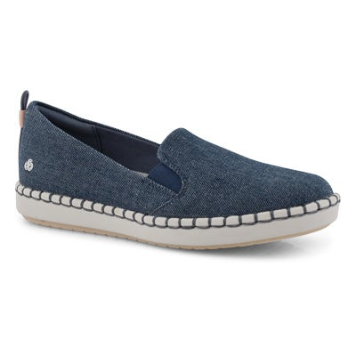 Lds Step Glow Slip denim casual loafer