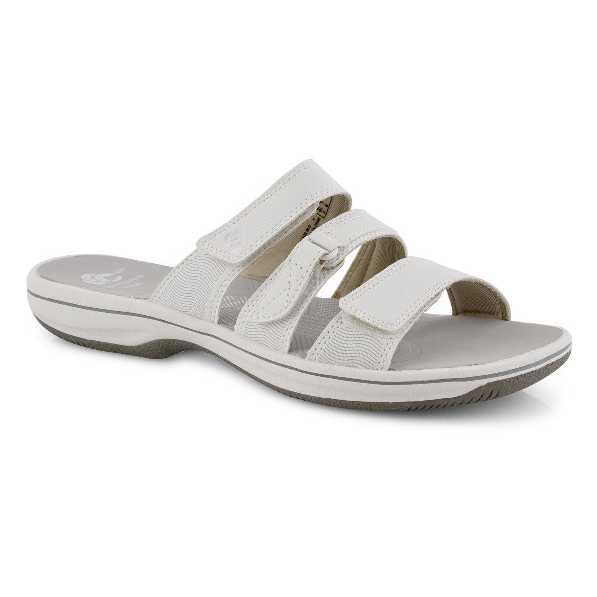Lds Brinkley Coast white slide sandal