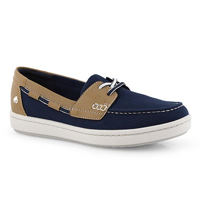 Lds Step Glow Lite navy slip on shoe