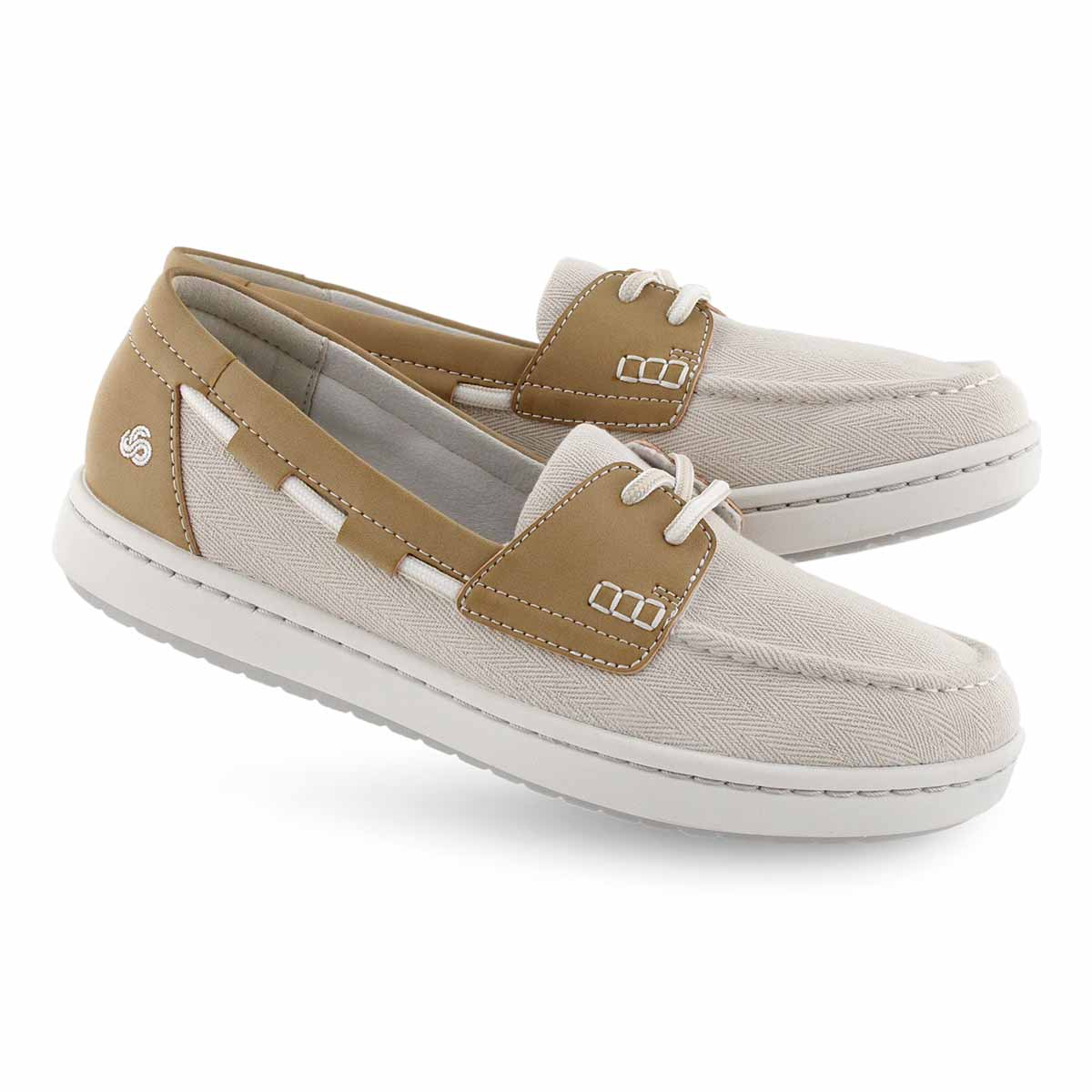 Women's STEP GLOW LITE off white slip on shoes