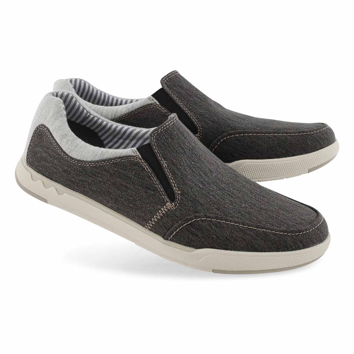 Mns Step Isle Slip blk casual shoe