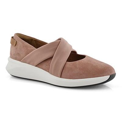 Lds Un Rio Cross rose casual shoe