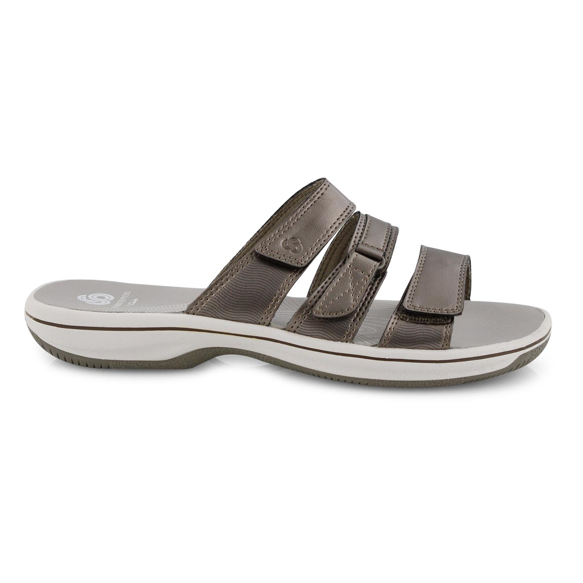 Lds Brinkley Coast pewter slide sandal