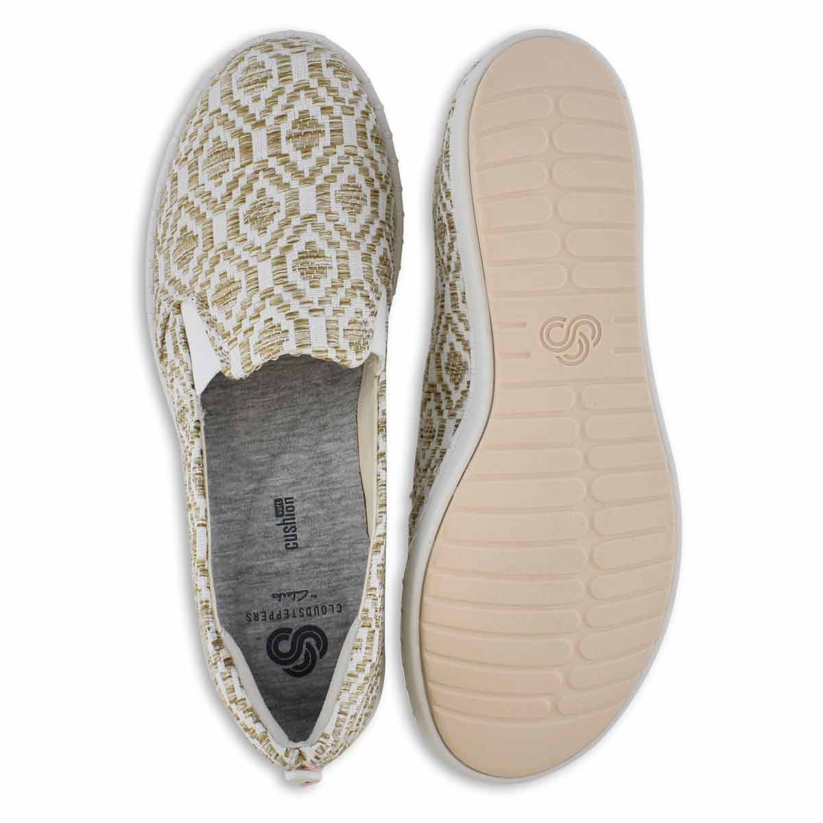 Lds Step Glow Slip nat/wht casual loafer