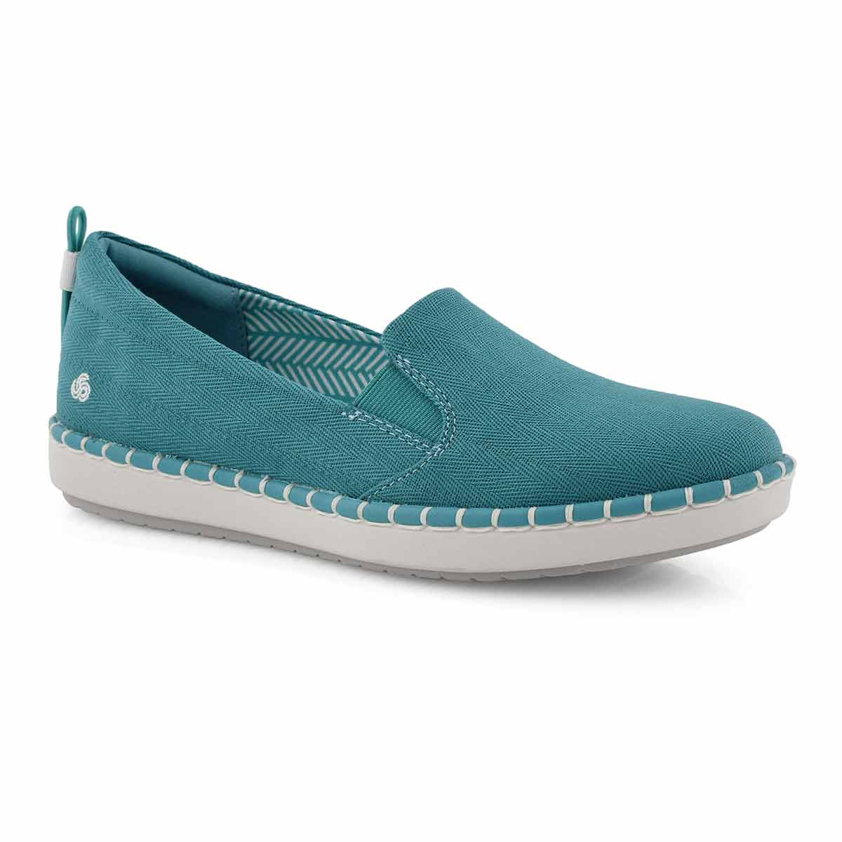 Lds Step Glow Slip aqua casual loafer