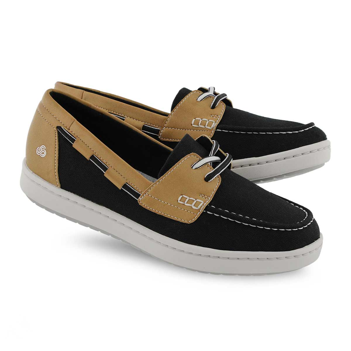 Lds Step Glow Lite black slip on shoe
