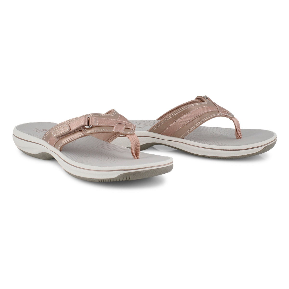 Lds Breeze Sea rose gold thong sandal