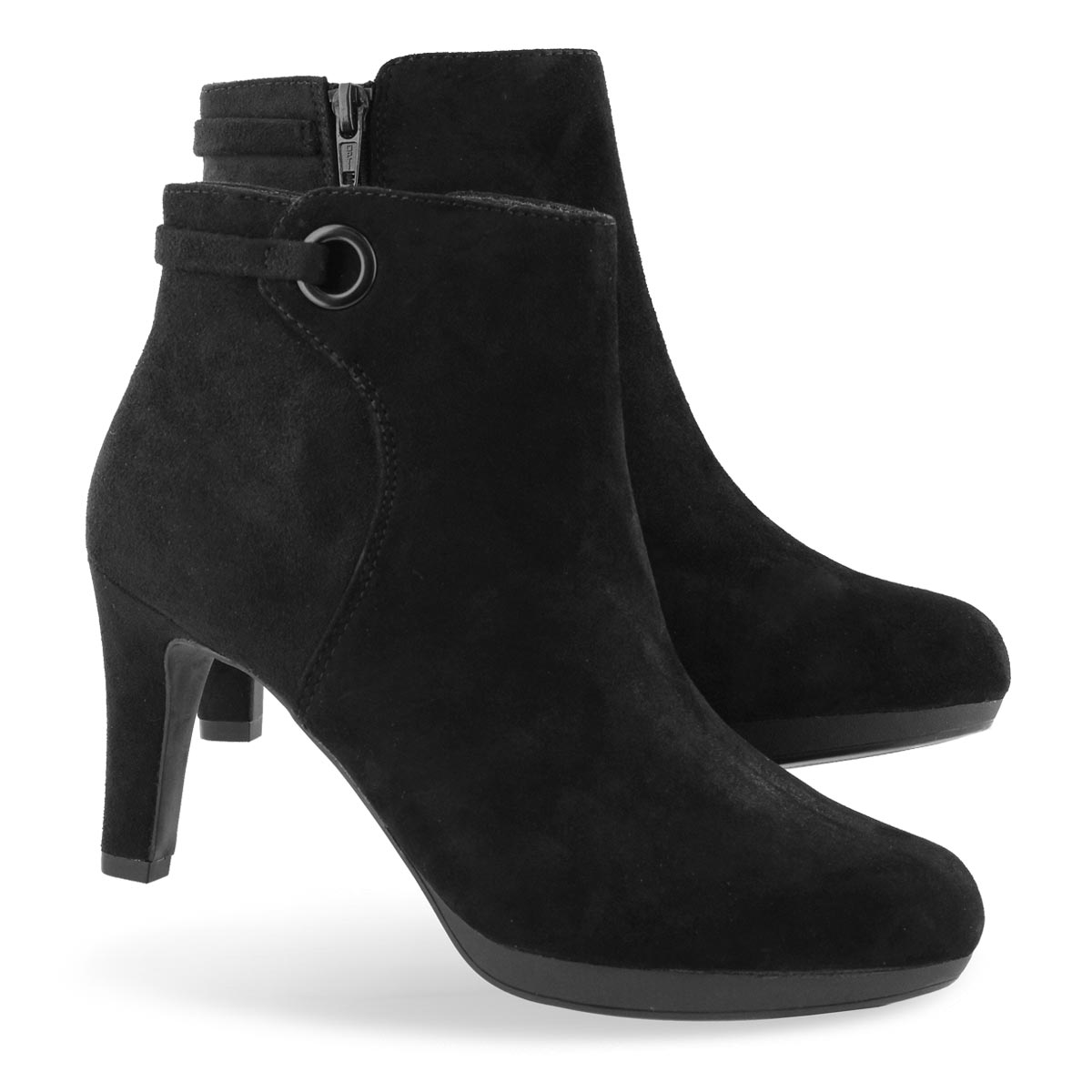 Lds Adriel Mae blk suede dress bootie