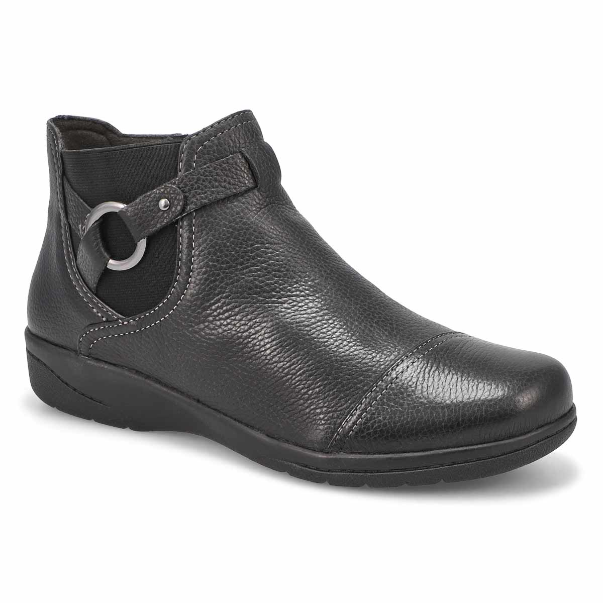 Lds Cheyn Track blk ankle boot-WIDE