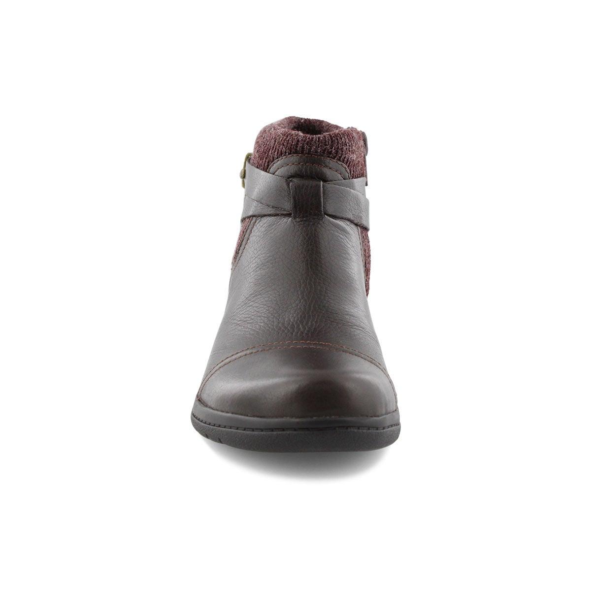Lds Cheyn Kisha dk brn casual ankle boot
