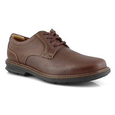 Mns Rendell Plain mahogany casual oxford