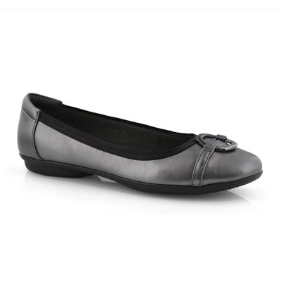 Lds Gracelin Wind black metallic flat