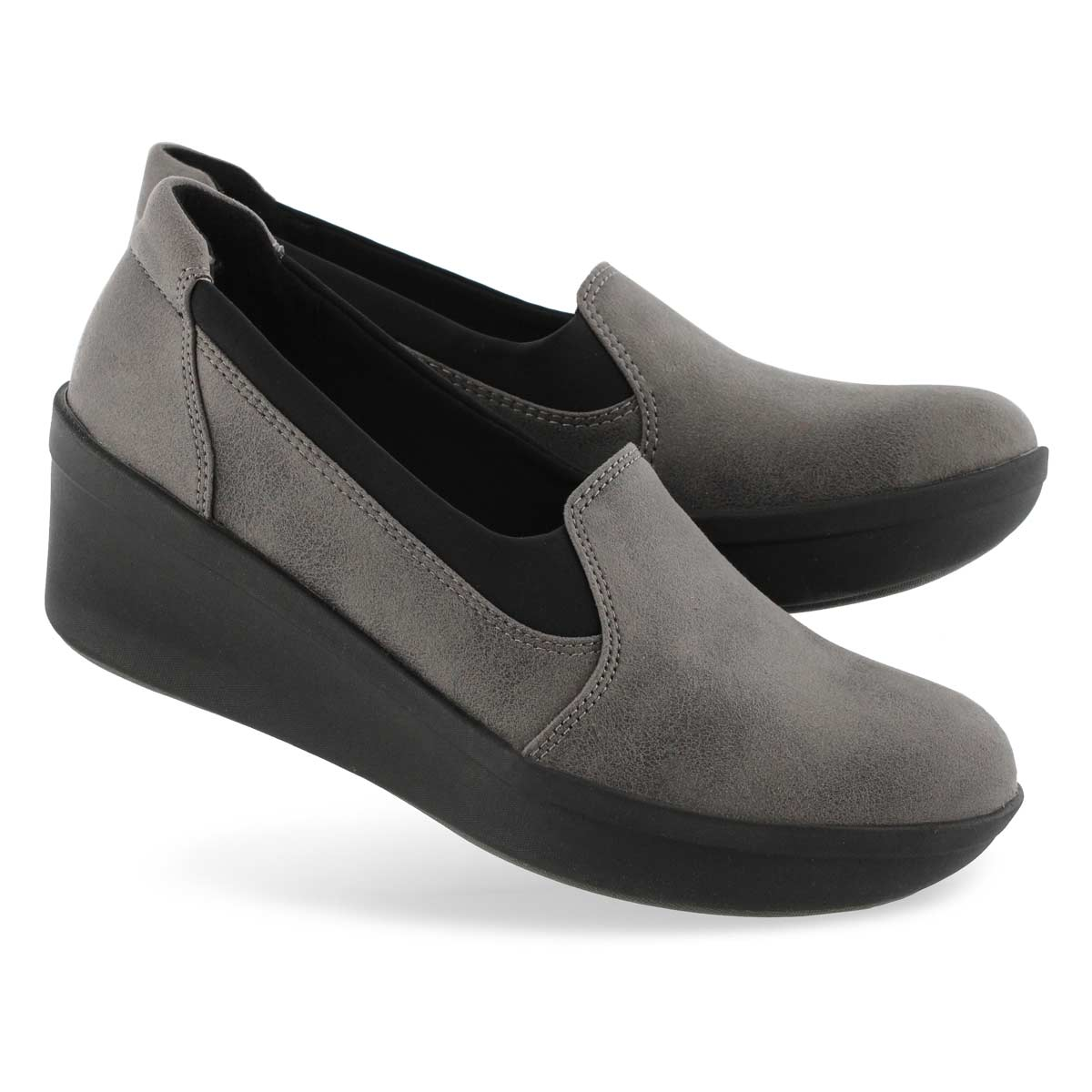 Lds Step Rose Moon grey slip on shoe