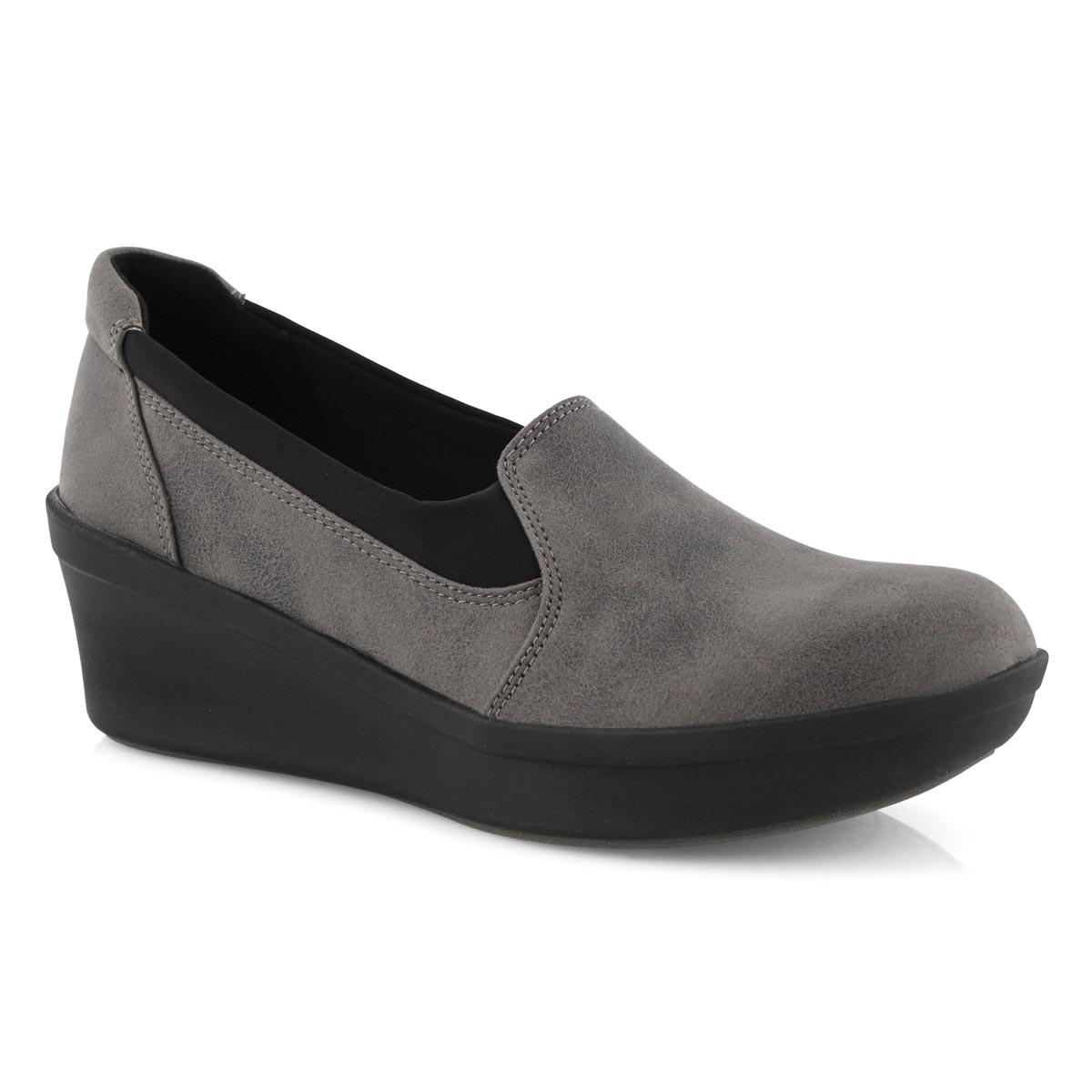 Lds Step Rose Moon grey slip on shoe