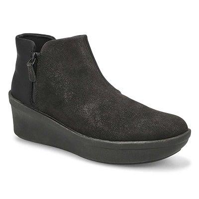 Lds Step Rose Up black slip on boot