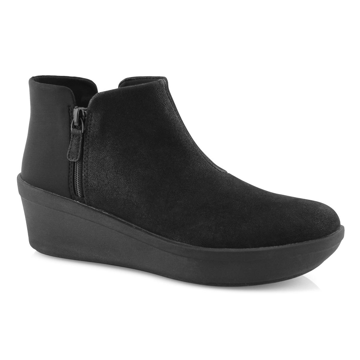 Lds Step Rose Up black slip on boot