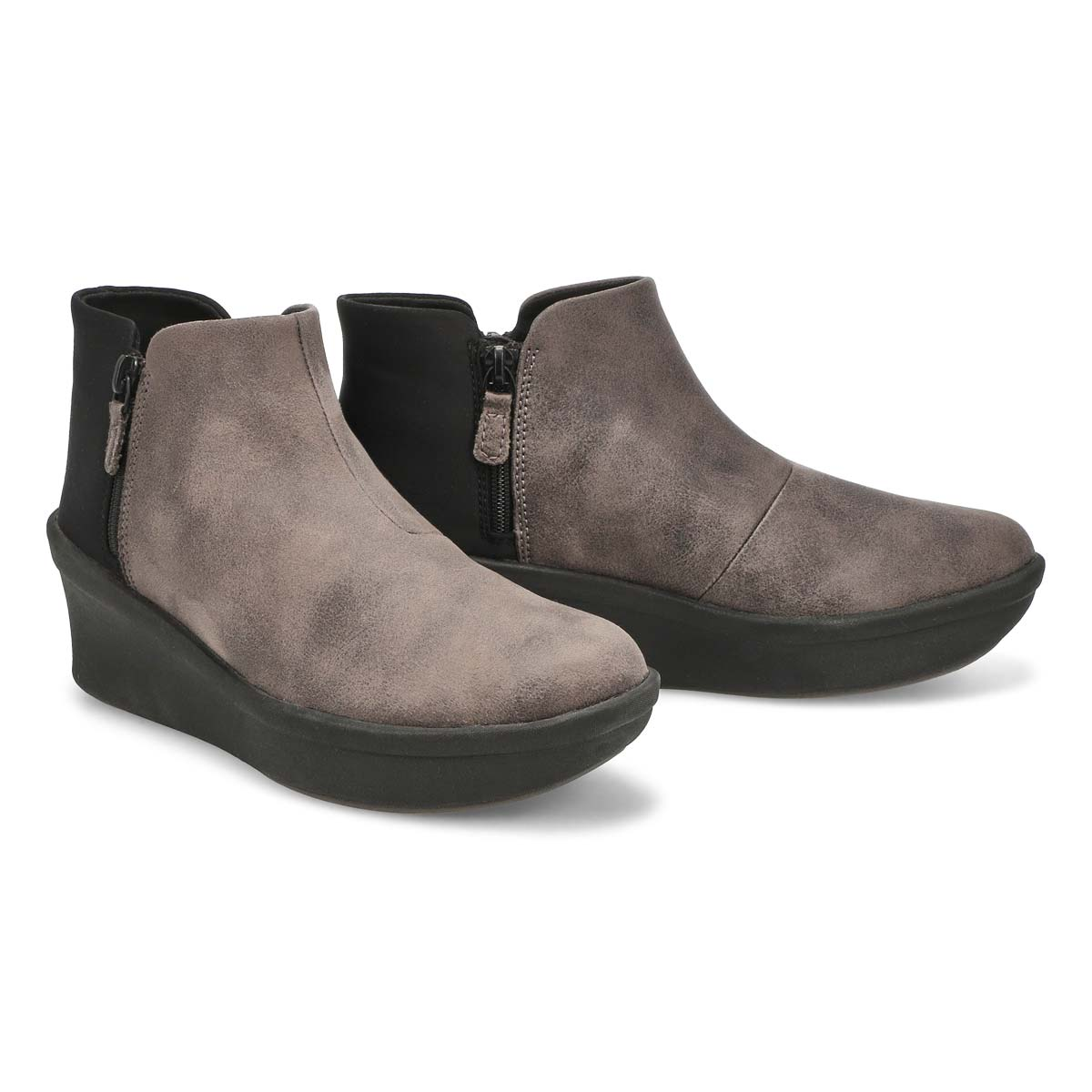 Lds Step Rose Up grey slip on boot