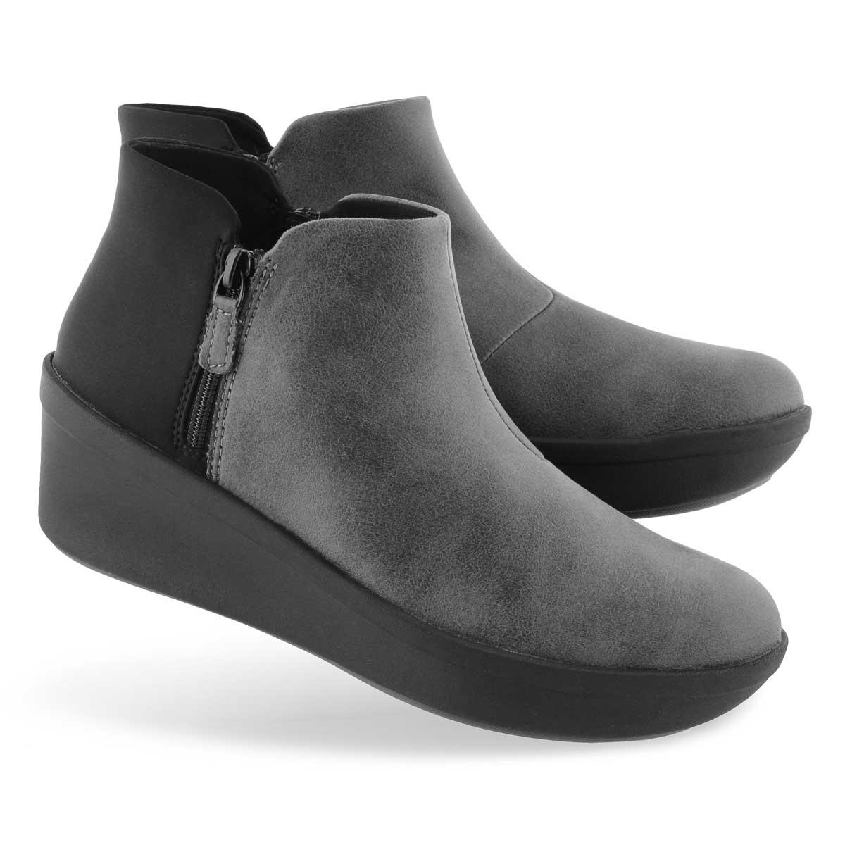Lds Step Rose Up grey slip on boot