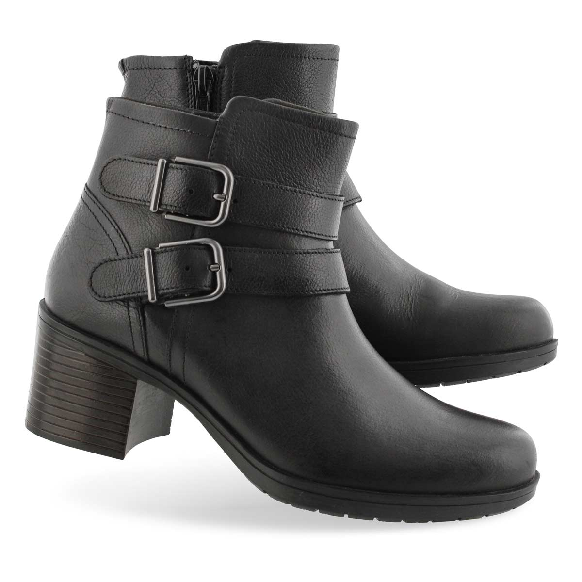 Lds Hollis Pearl black ankle boot