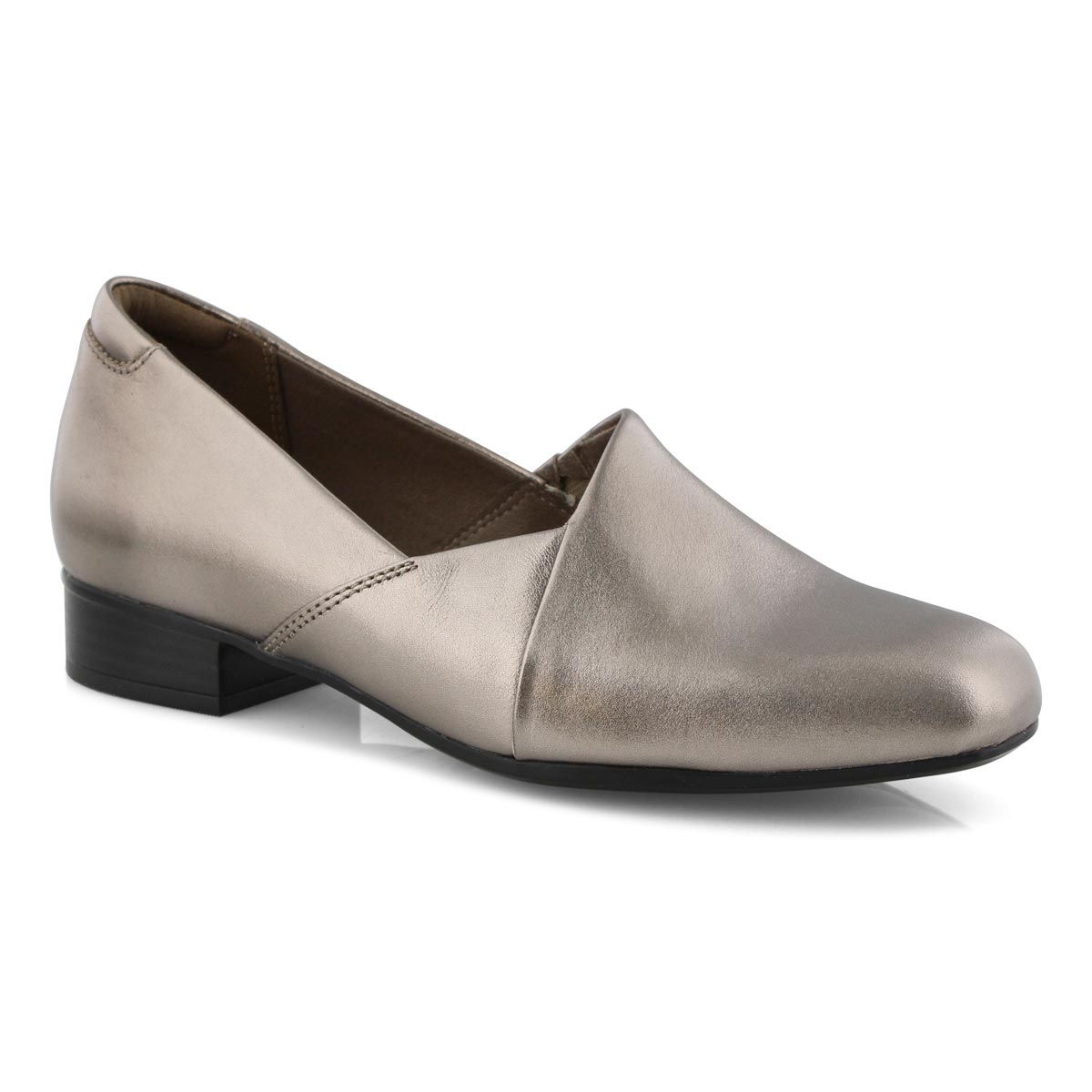 Lds Juliet Palm pewter slipon dress heel