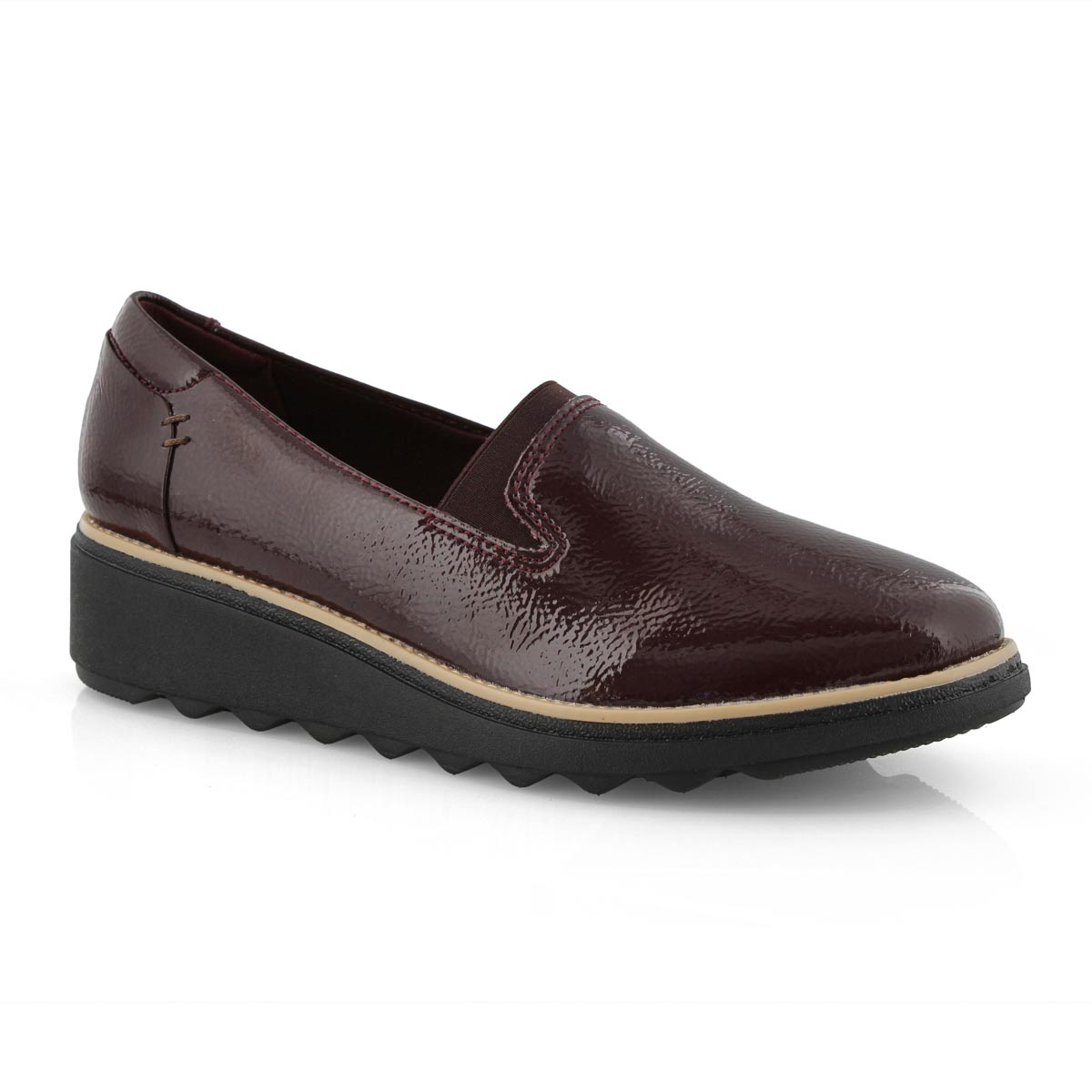 Lds Sharon Dolly burgundy casual loafer