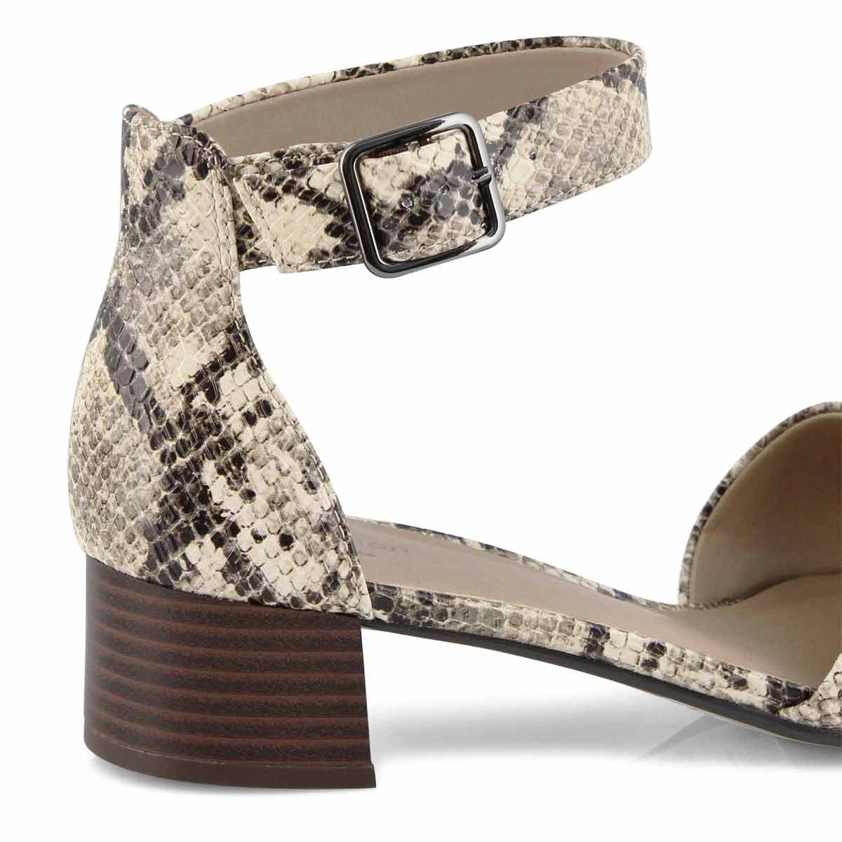 Lds Elisa Dedra taupe snake dress sandal