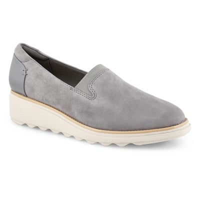Lds Sharon Dolly grey sde casual loafer