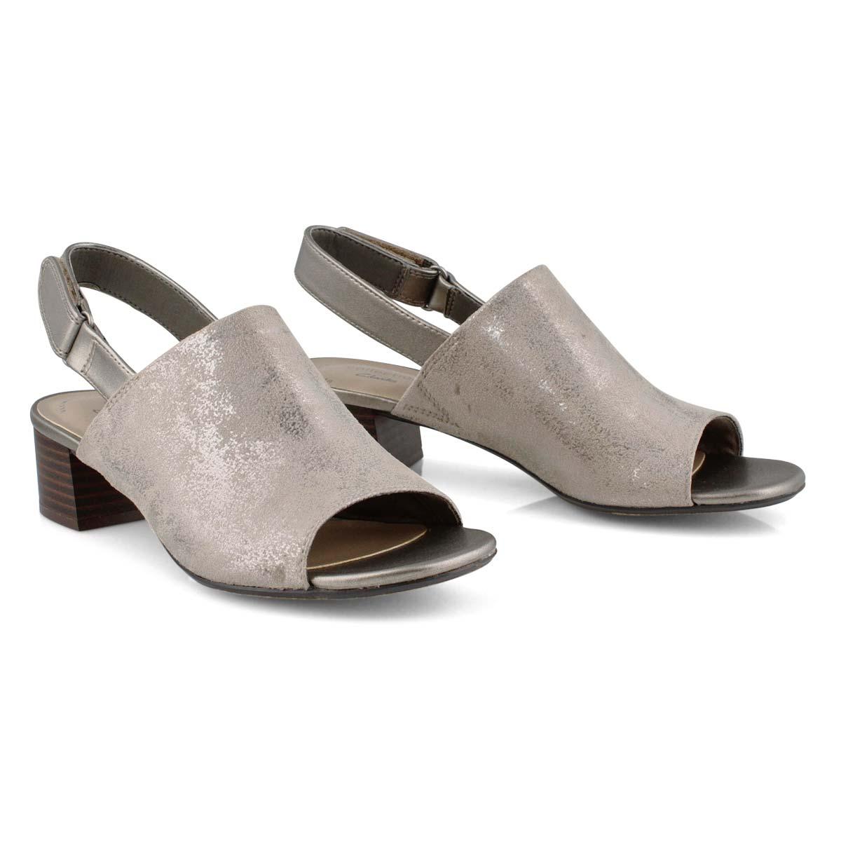 Lds Elisa Lyndsey pewter dress sandal