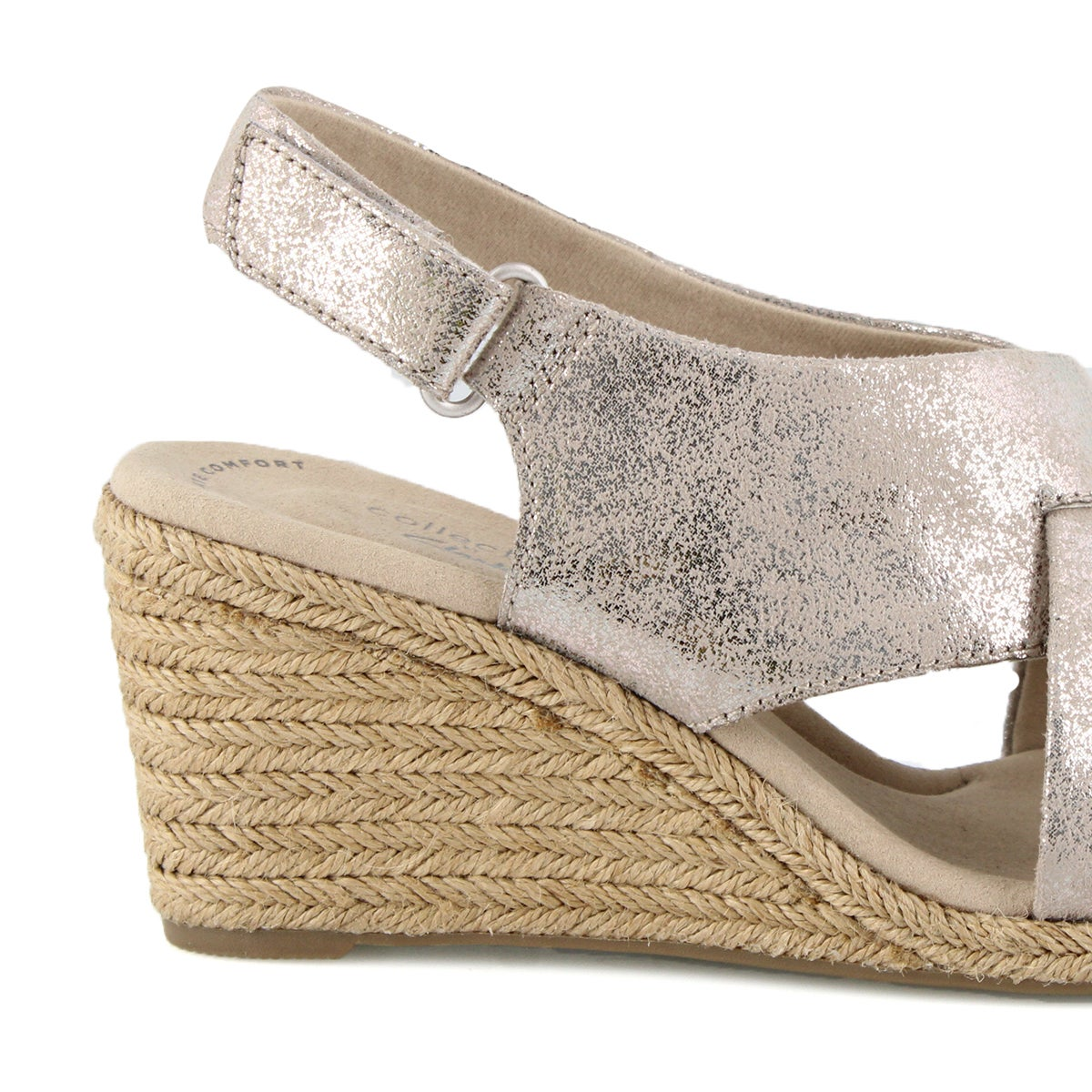 Lds Lafley Alaine pewter wedge sandal