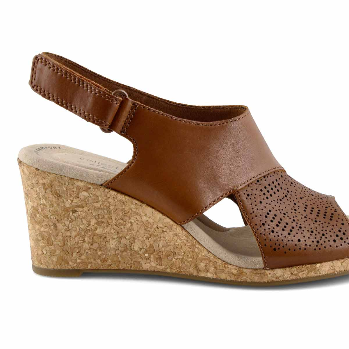 Lds Lafley Joy tan wedge sandal