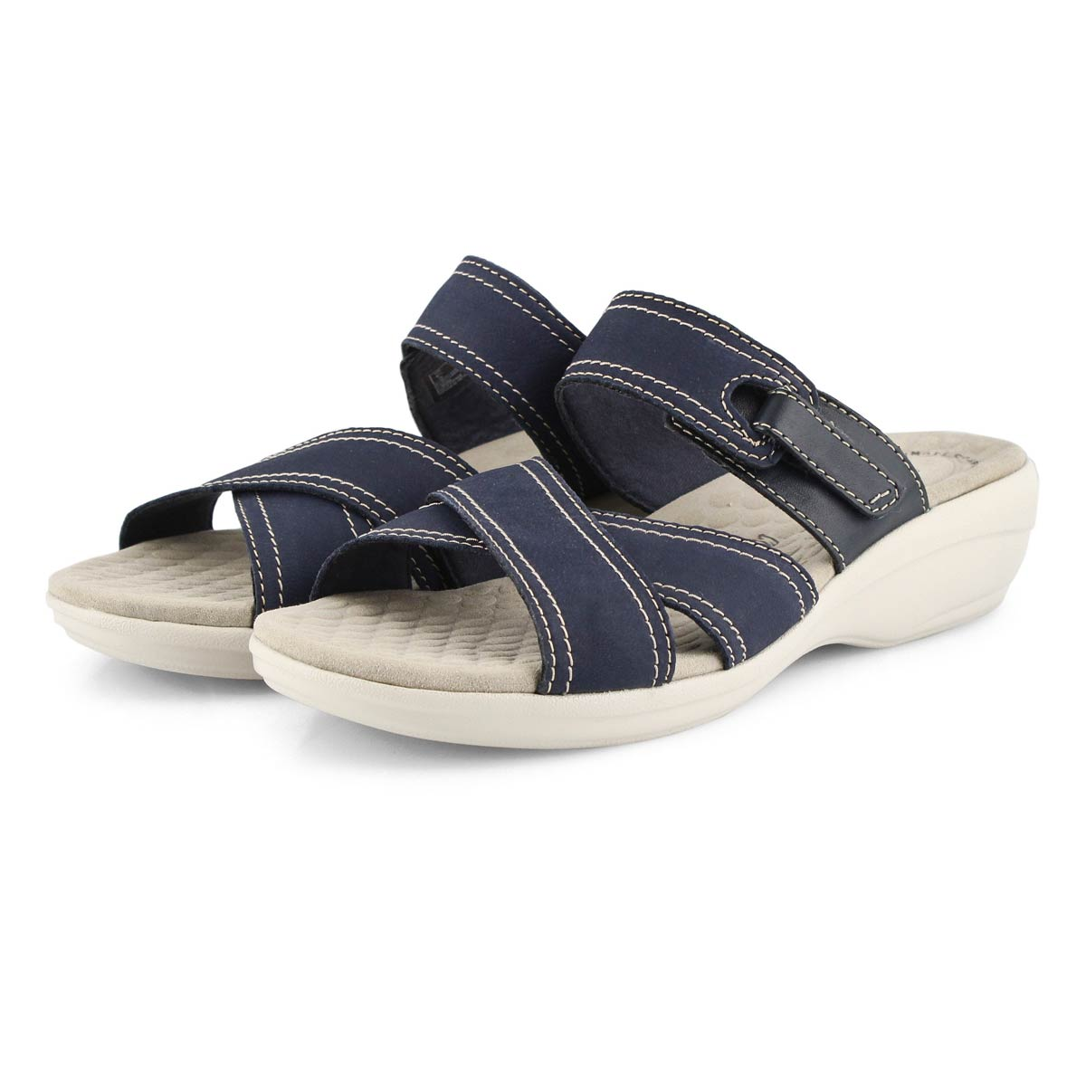 Lds Alexis Art navy casual slide sandal