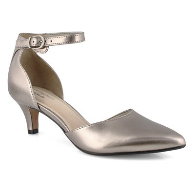 Lds Linvale Edyth pewter dress heel