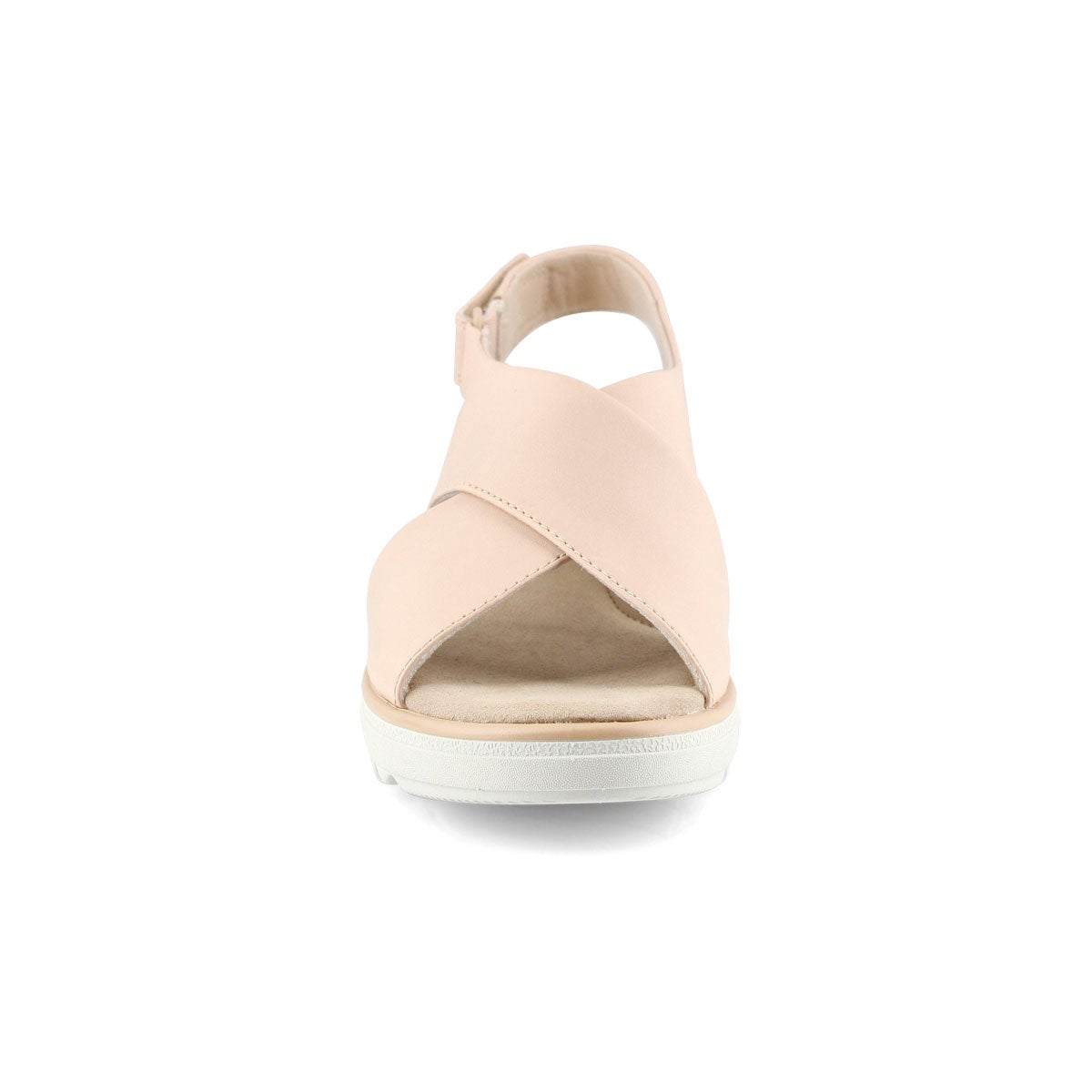 Lds Jillian Jewel blush wedge sandal