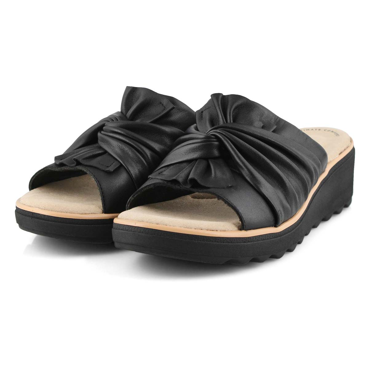 Lds Jillian Leap black wedge sandal