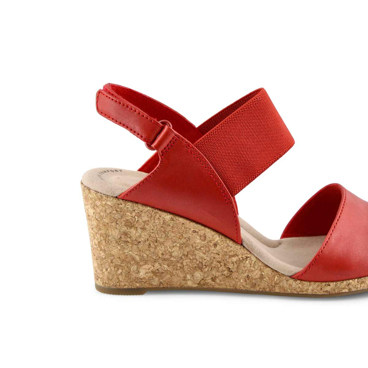Lds Lafley Lily red wedge sandal -wide