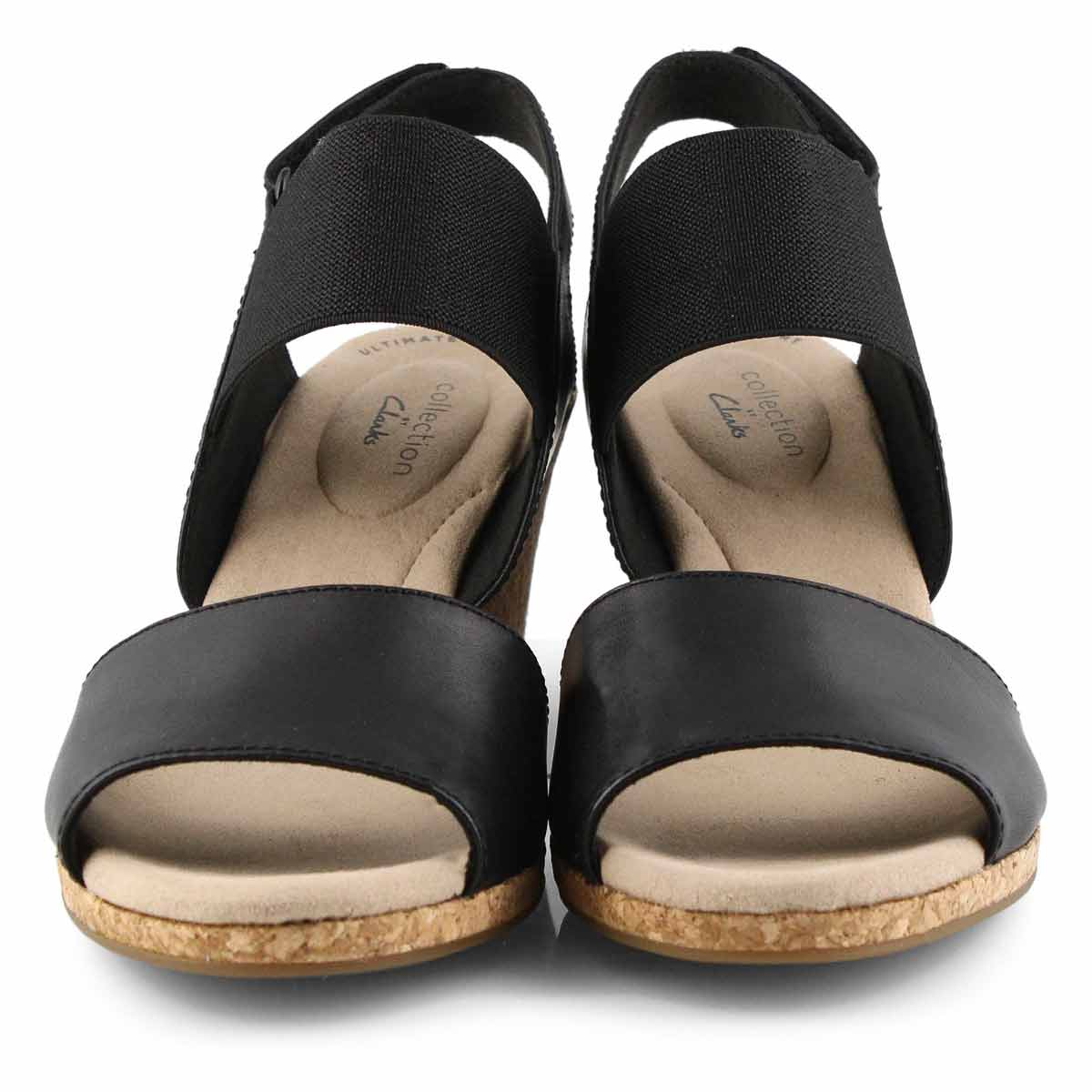 Lds Lafley Lily black wedge sandal -wide