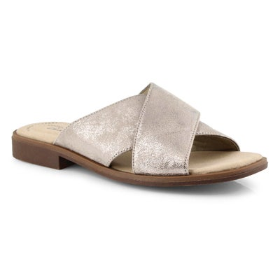 Lds Declan Ivy pewter slide sandals