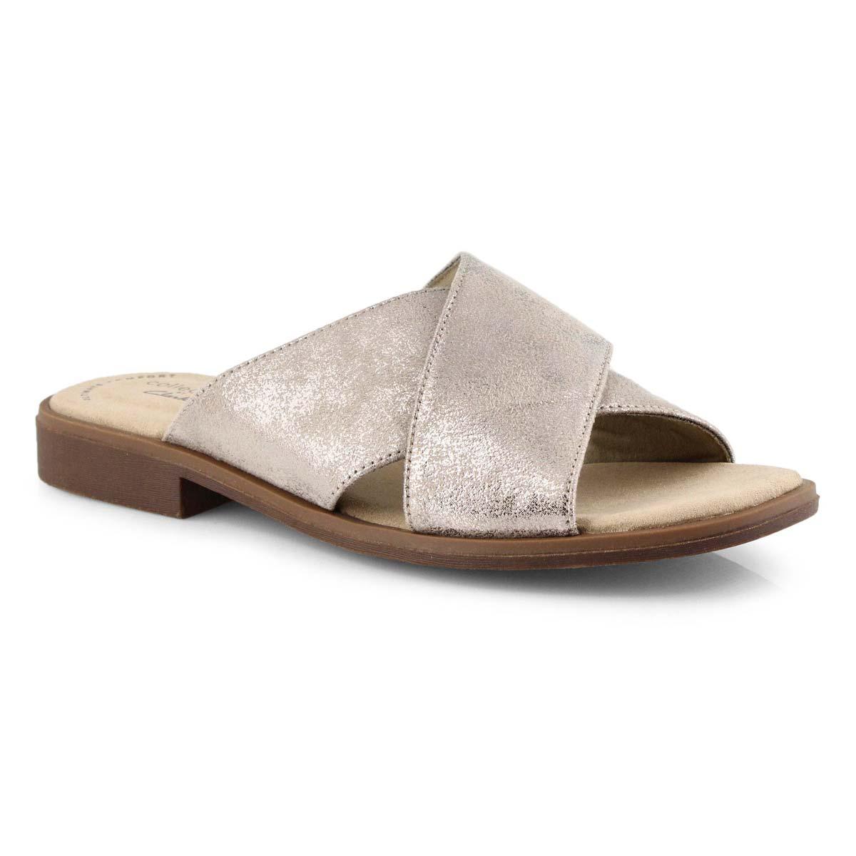Lds Declan Ivy pewter slide sandals