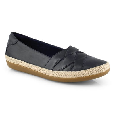 Lds Danelly Shine navy slip on -wide