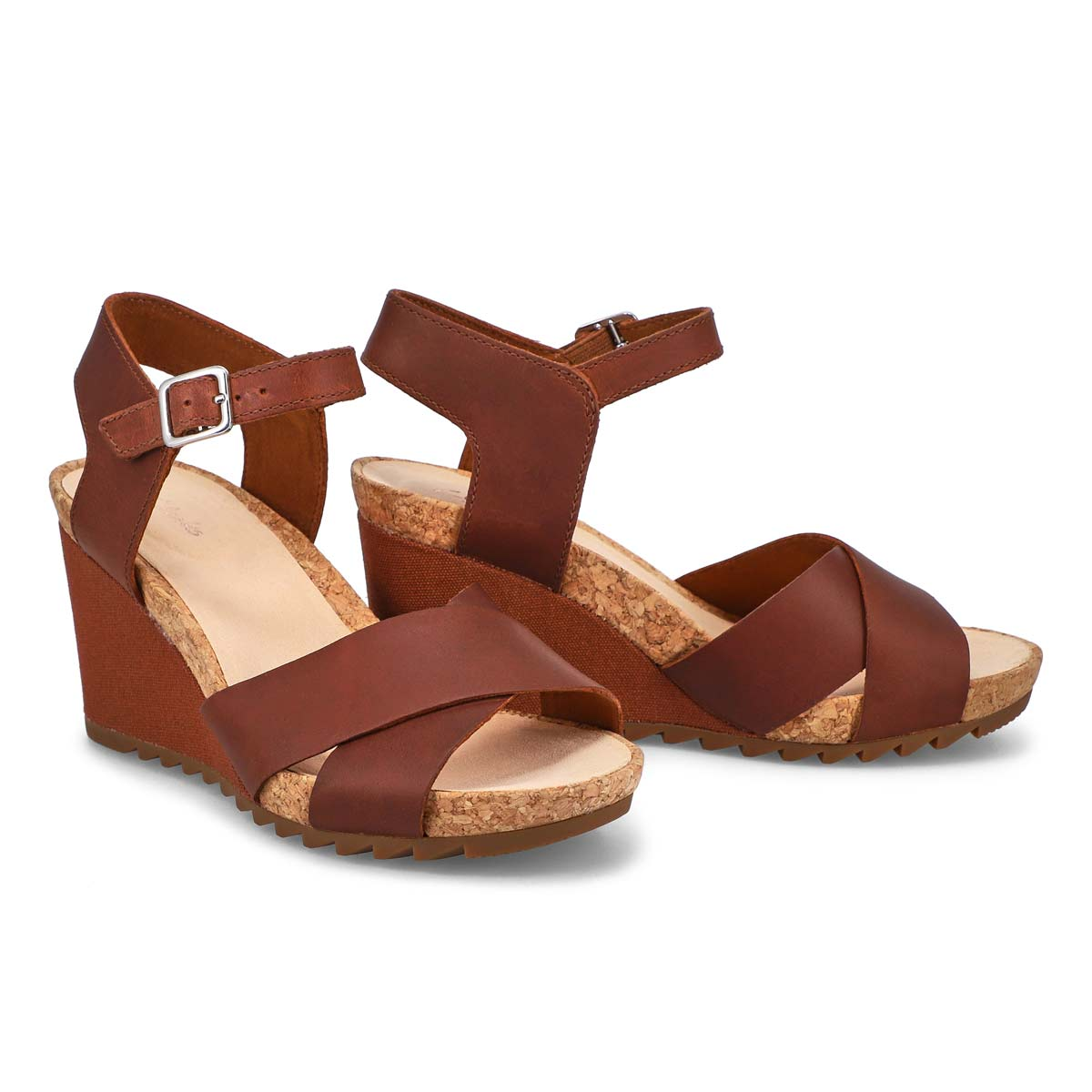 Lds Flex Sun tan wedge sandal