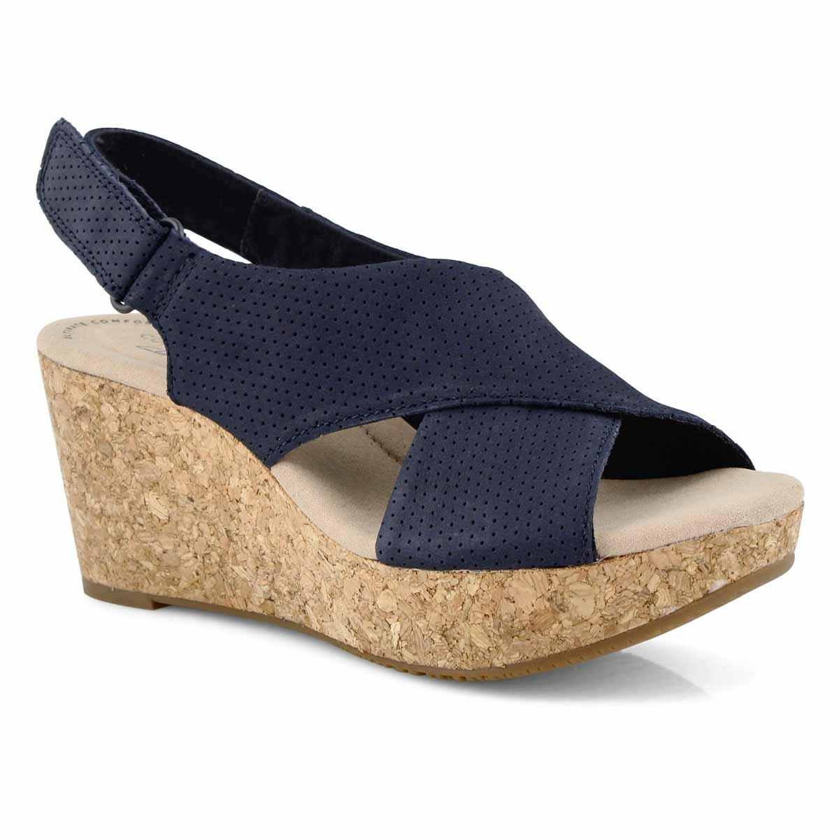 Lds Annadel Parker navy wedge sandal