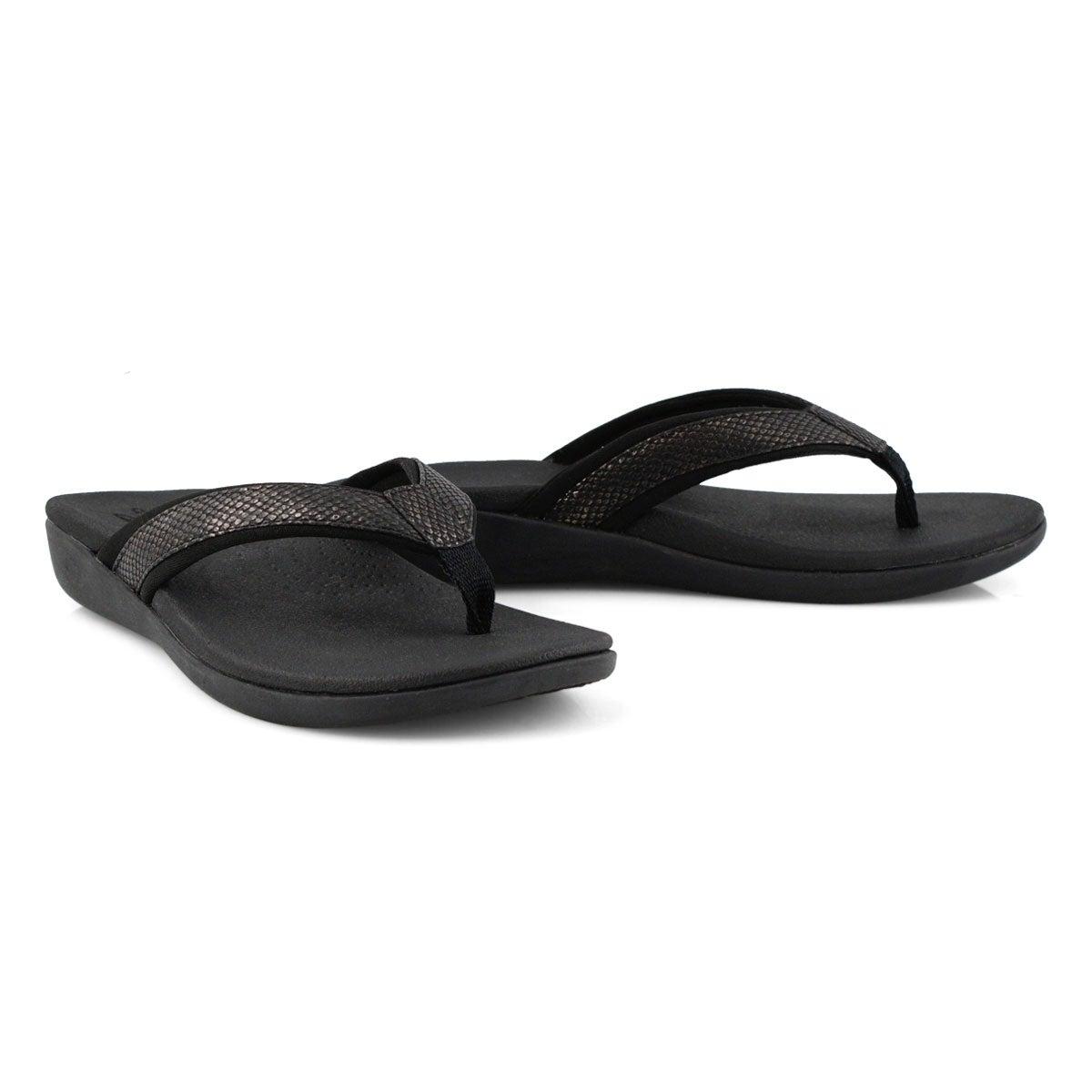 Lds Brio Sol black snake casual sandal