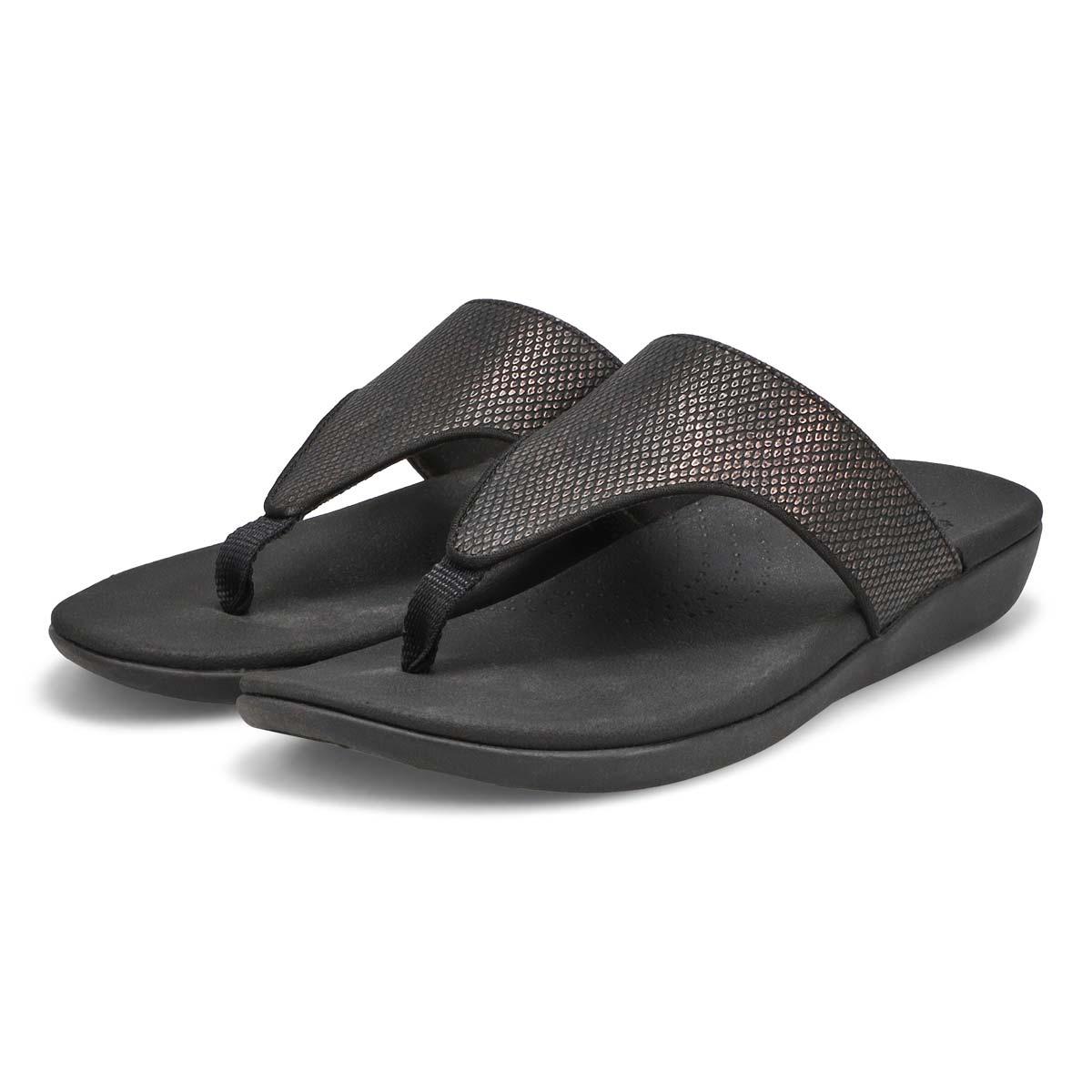 Lds Brio Vibe black snake thong sandal