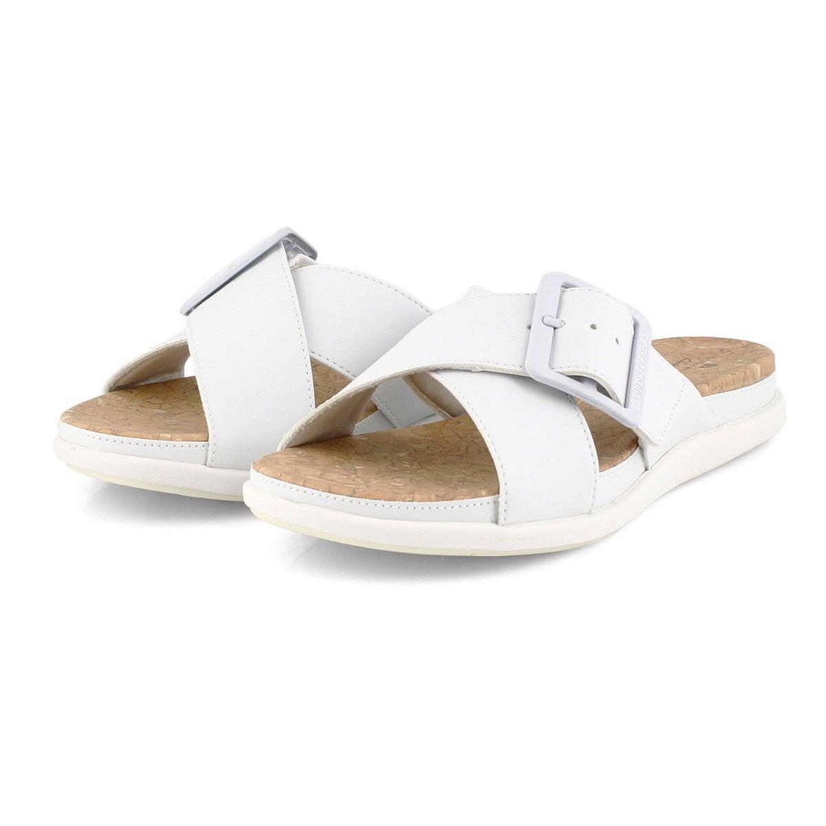 Lds Step June Shell white slip on sandal